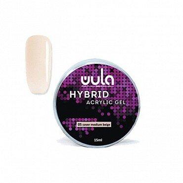 Wula nailsoul Гель акриловый Hybrid acrylic gel, 15 мл тон 05 cover medium beige