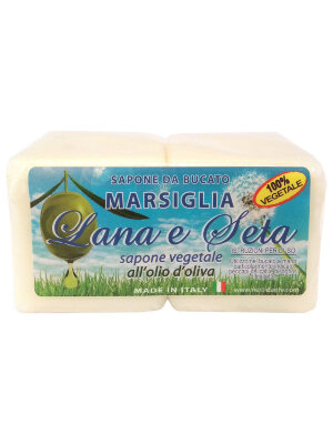 ND Мыло Lana & Seta with olive oil Laundry Soap / Шерсть и Шёлк  Хозяйственное 2*150 гр
