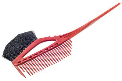 Кисточка для окрашивания с расческой Y.S. Park красная