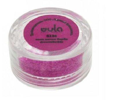 Wula nailsoul Глиттеры для ногтей 5гр., розовый неон