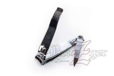 """BRZ Книпсер для ногтей КМ-8""""S""""(длина 7,6 см) блестящее покрытие"""
