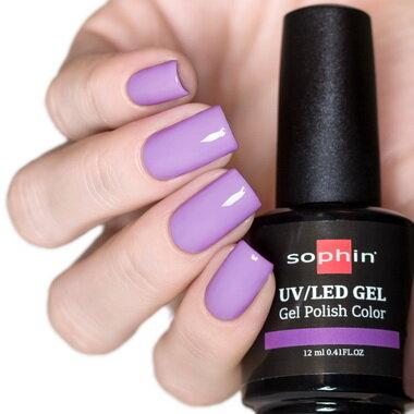 0745 GEL POLISH COLOR Цветной UV/LED гель-лак, 12мл ''delicate violet''
