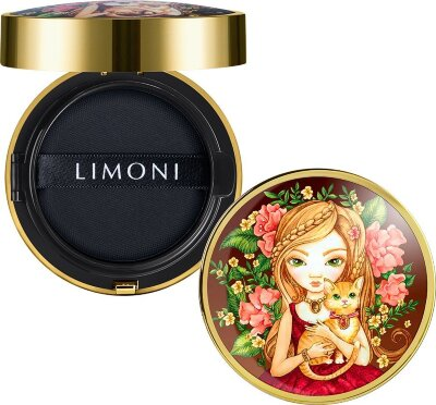 LIMONI Тональный флюид кушон All Stay Cover Cushion SPF 35 / PA++ Animal Princess 01 Light