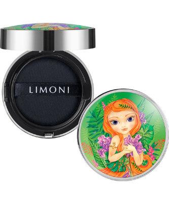LIMONI Тональный флюид кушон All Stay Cover Cushion SPF 35 / PA++ Jungle Princess 01 Light