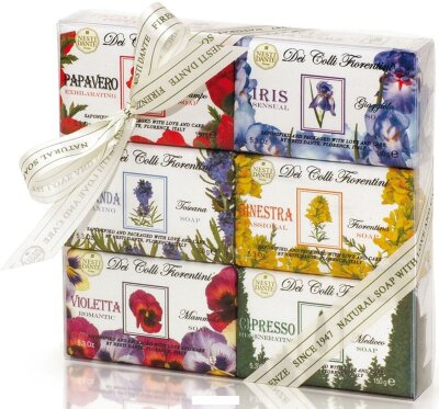 ND Набор мыла Del Colli Florentini / Цветочная коллекция  6*150 гр