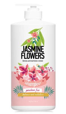 Шампунь цветочный баланс и питание цветы жасмина/750 мл.