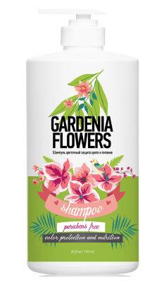 Шампунь цветочный защита и питание цветы гардении/750 мл.