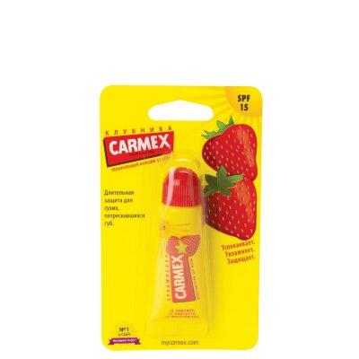 Carmex бальзам для губ клубничный SPF 15 (в тюбике) | Carmex Ultra Moisturising Lip Balm Strawberry SPF 15