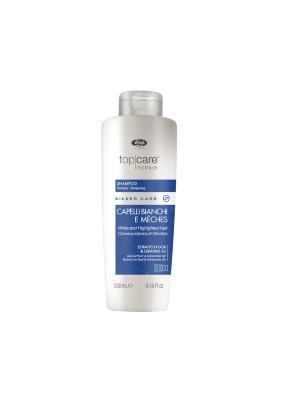 Шампунь для седых, мелированных волос – «Top Care Repair Silver Care Shampoo»250мл