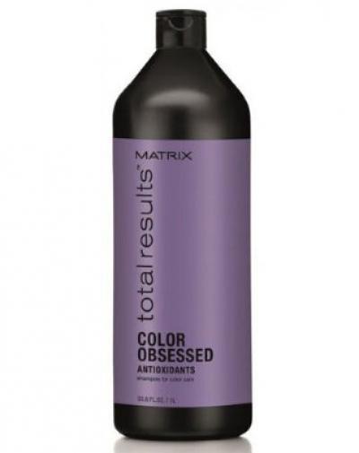 Mx ТР КОЛОР ОБСЭССД Шампунь 1000мл  для защиты цвета окрашенных волос с антиоксидантами