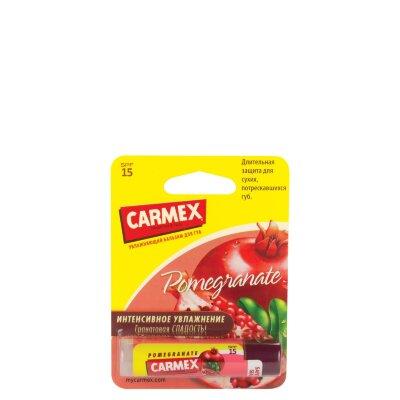 Carmex бальзам для губ гранатовый SPF 15 (в стике) | Carmex Ultra Moisturising Lip Balm Pomegranate Twist SPF 15