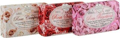ND Набор мыла Rosa / РОЗА  (Чувственная Роза, Роза 3*150 гр