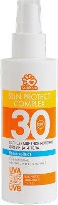 Солнцезащитное, водостойкое молочко «SOLBIANCA 30 SPF»для лица и тела 150мл