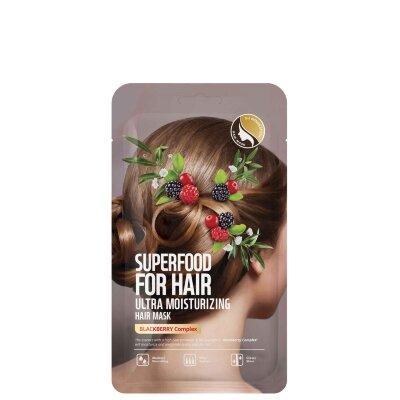 Farmskin ультра увлажняющая маска для волос с экстрактом ежевики   Farmskin Superfood for Hair Ultra Moisturizing Hair Mask