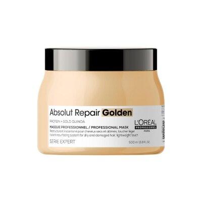 L`Orеal Prof  Маска с золотой текстурой для восстановления поврежденных волос L`oreal Professionnel Serie Expert Absolut Repair Masque gold 500 мл