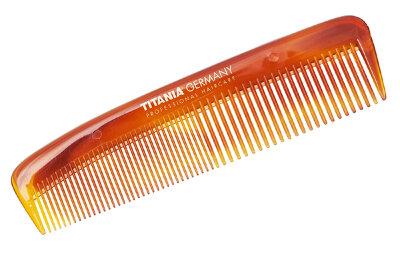 Расчёска карманная желто-коричневая