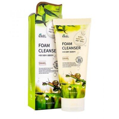 EKEL Snail Foam Cleanser Пенка для умывания с муцином улитки