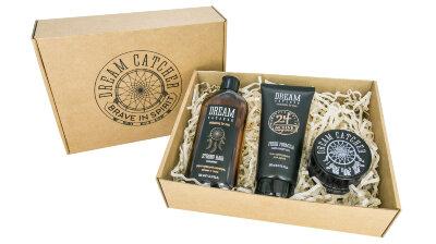 DREAM CATCHER Подарочный набор №1 – укрепляющий шампунь, гель для душа, паста для волос