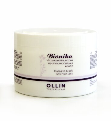 OLLIN BioNika Интенсивная маска против выпадения волос 450мл/ Intensive Mask Anti Hair Loss