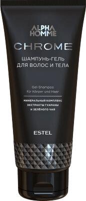 AHC/SG Шампунь-гель для волос и тела ESTEL ALPHA HOMME CHROME, 200 мл