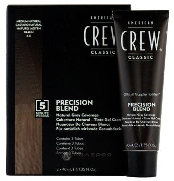 AmCrew PRECISION BLEND Камуфляж для седых волос, Средний натуральный 4/5, 3*40мл