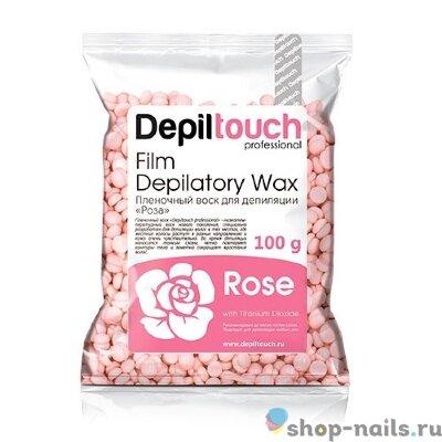 Пленочный воск Depiltouch  «Rose» с ароматом розы 100 гр