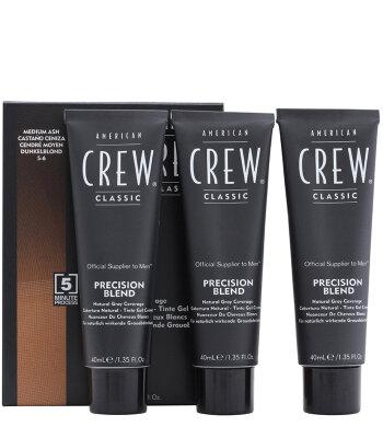 AmCrew PRECISION BLEND Камуфляж для седых волос, Средний пепельный 5/6, 3*40мл