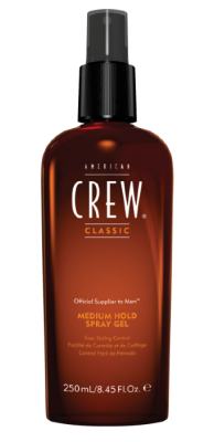 AmCrew Спрей-гель для волос средней фиксации Classic Medium Hold Spray Gel 250 мл