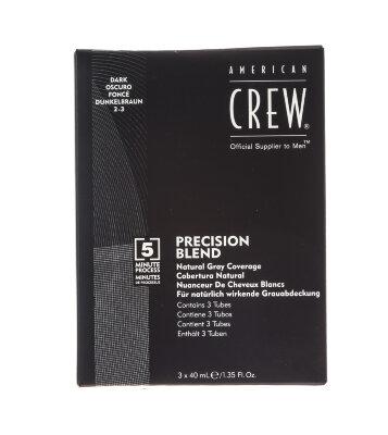 AmCrew PRECISION BLEND Камуфляж для седых волос, Темный натуральный 2/3, 3*40мл