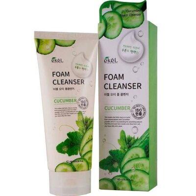 Ekel пенка для умывания освежающая и увлажняющая с экстрактом огурца | Ekel Cucumber Foam Cleanser