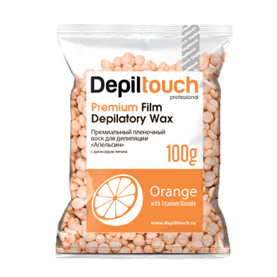Премиальный пленочный воск Depiltouch «Orange», 100гр
