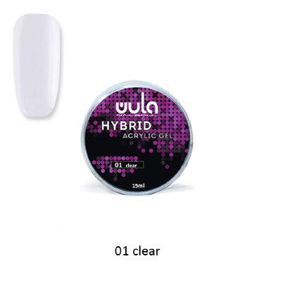 Wula nailsoul Гель акриловый Hybrid acrylic gel, 15 мл тон 01 Clear