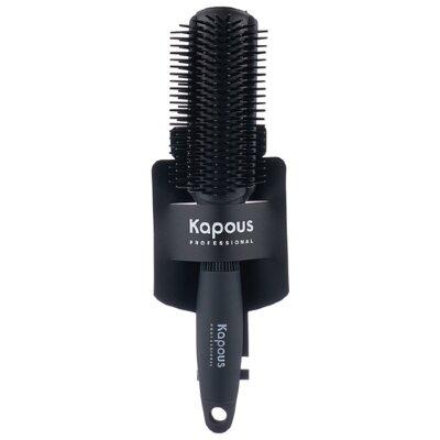 Щетка для прикорневого объема 180°, 9 рядов, с покрытием «Soft Touch» «Kapous»