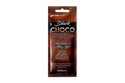 """Крем для загара в солярии """"Choco Black""""с маслами какао,ши,кофе, экстракт.прополис,витамин.""""25"""" 15 мл"""