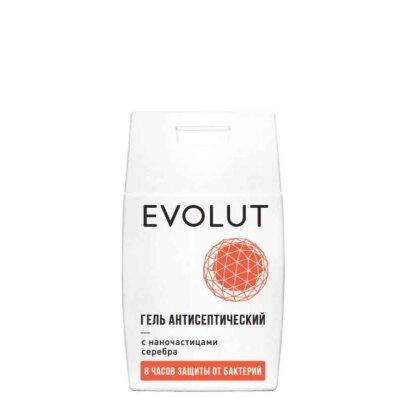 Evolut гель для рук антисептический с наночастицами серебра, плоский флакон | Evolut Antiseptic Hand Sanitizer With Silver Nanoparticles Flat Bottle