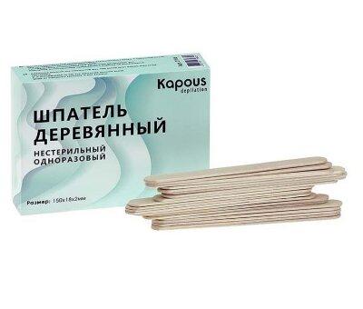 Шпатель деревянный, 150*18*2 мм, 100 шт./уп.