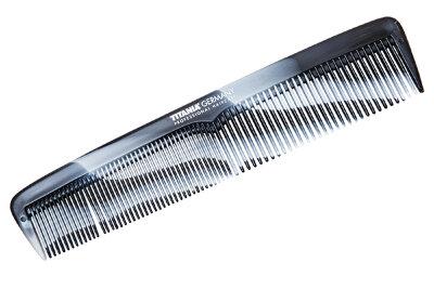 Расчёска 21 см комбинированная серо-белая