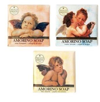 ND  Набор мыла Amorino / АМУРЫ  (Букет роз, Нежность лилии, Мечта о море) 3*150 гр