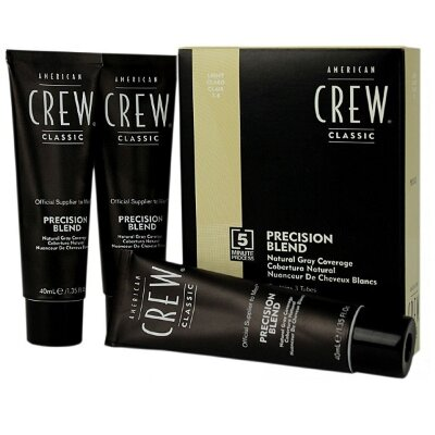 AmCrew Краска для седых волос Аmerican Сrew Precision Blend  Блонд 7/8, 3*40 мл.