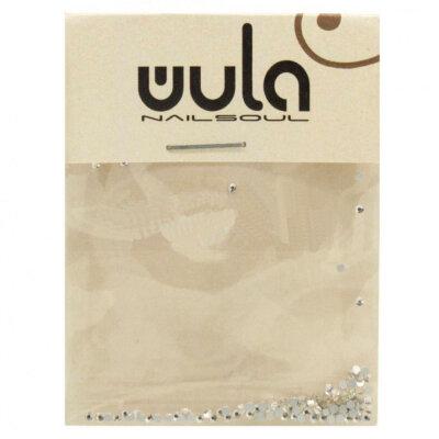 Wula nailsoul Стразы для ногтей 100 шт, искрящееся серебро (мелкие)