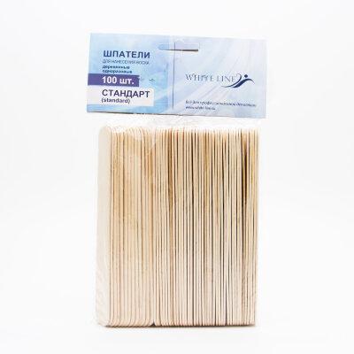 """Шпатели деревянные """"стандарт"""" Italwax №100шт   размер 16*140 мм"""
