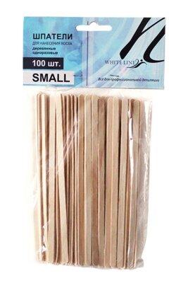 """Шпатели деревянные """"малые"""" Italwax  №100шт размер 5*140 мм"""