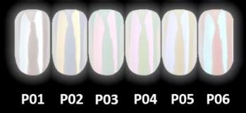 Wula nailsoul Втирка жемчужная P02  Golden pearl