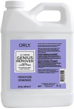 Универсальная жидкость для снятия лака, геля и блёсток Genius Remover, 946мл