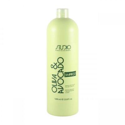 Шампунь увлажняющий для волос с маслами авокадо и оливы, 1000мл