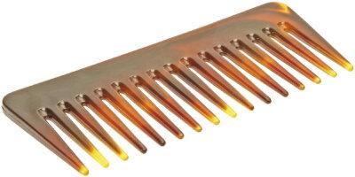 Расчёска-гребень 14 см желто-коричневый