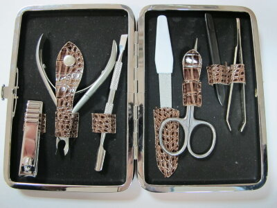 BRZ Набор маникюрный  NM-7 кожаный ( 7 предметов)