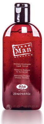 Укрепляющий шампунь для нормальных волос для мужчин «Lisap Man Densifying  Shampoo for Normal Hair»250мл