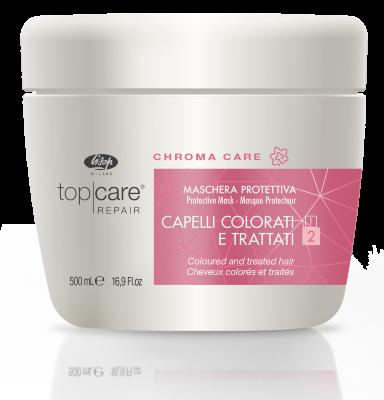 Восстанавливающая защитная маска для окрашенных, поврежденных волос – Top Care Repair Chroma Care Protective Mask 500мл