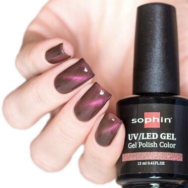 0712 GEL POLISH COLOR Цветной UV/LED гель-лак,12мл ''cat eye plum''